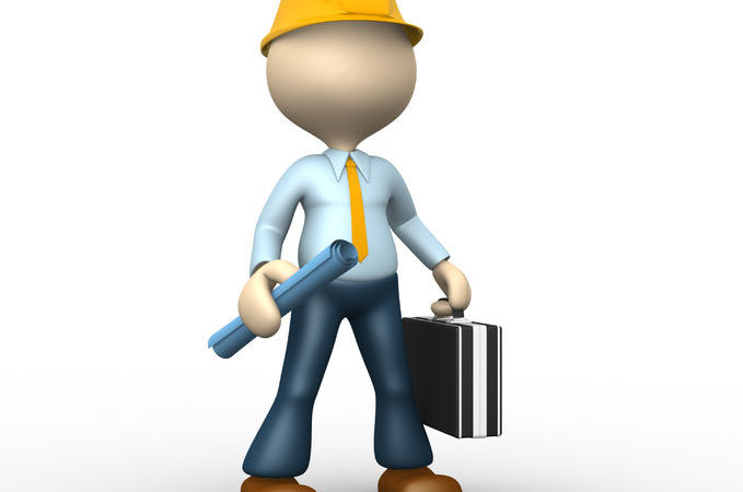 24961387 - 3d people - man, person with a project. engineer